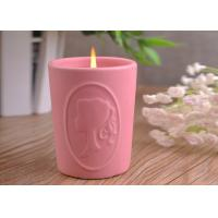 Quality Character Candle Cup Holders Ceramic Candle Containers With Candle Light wholesale