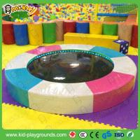 Quality Round Kids water bed water trampoline for toddler play zone with LED light indoor soft play equipment wholesale