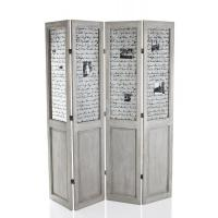Quality Antique Folding Handmade Grey Wooden Room Divider Screens Room Partition wholesale
