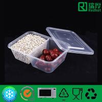 Quality Two Compartment plastic food container / divided clear lunch box 650ml wholesale