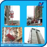Quality 4tons VFD / FC control Rack and Pinion Building Hoist With Mast Sections wholesale