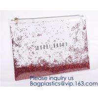 Quality Custom Logo Glitter Cosmetic Makeup Eva Clear Pouch / Pouches,Smiggle Pencil Case With Glitter,Tissue Bag CD Case Docume wholesale