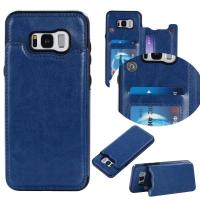 Quality Dark - Blue Galaxy S8 Plus Wallet Case Crazy Horse Business Use With Holder Function wholesale