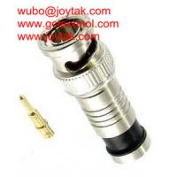 Quality BNC male compression connector 75ohm for RG59 coax cable BNC coaxial connector for monitoring wholesale