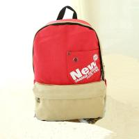 Leisure bags canvas backpacks for students red black dark blue