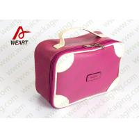 Quality Matte Lamination Leather Pink Customized Paper Box With Handle OEM /ODM Avaliable wholesale