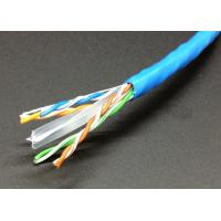 China Network Lan Cable UTP Cat6 4 Pairs 23AWG CCA Copper Clad Aluminum in 305m Pull Box on sale