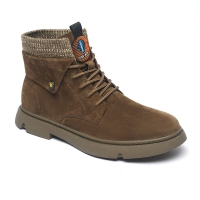 China Customized Logo Rubber Outsole Mens Tan Leather Boots on sale