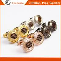 Buy cheap Rose Gold Black Silver Golden Cuff Links for Man Top Brand Aigner Copy Cufflinks for Man product