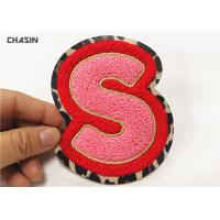 China Leopard Print Alphabet Chenille Patches Custom Chenille Patches No Minimum on sale