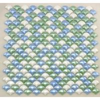 Quality Smooth Fish Scale Multi Coloured Mosaic Glass Tile Sheets For Background Building wholesale