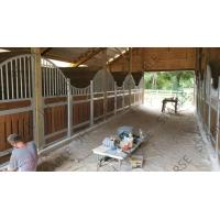 Quality Hot Dip Galvanized Horse Stable Box Stall Fence Panel With Wood Board wholesale