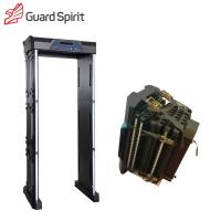Quality IP55 Foldable Walk Through Security Scanners , Waterproof Airport Metal Detector With Battery wholesale