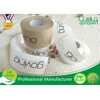 Quality Brown / White Color Kraft Paper Tape Customized Reinforced Gummed Kraft Paper Tape wholesale