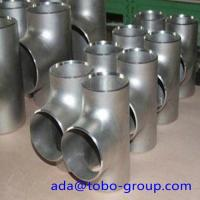 Quality SCH 80 ASTM A403 WP316L Stainless Steel Equal Butt Welding Tee For Gas Oil wholesale