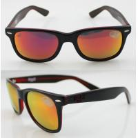 Quality Unisex Orange Sport Acetate Frame Sunglasses , Wayfarer Sunglasses wholesale