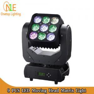 Cheap High brighness 4 in 1 Mini Moving Head Beam Light 9pcs 10W RGBW LED Matrix Pixel for sale