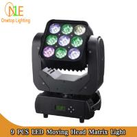 Buy cheap High brighness 4 in 1 Mini Moving Head Beam Light 9pcs 10W RGBW LED Matrix Pixel from wholesalers