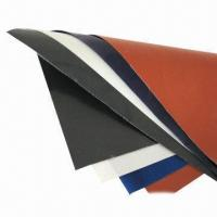 China Silicone Rubber-coated Fiberglass Cloth, Fireproof and High Temperature Insulation Ozone on sale