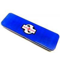 Quality Blue Metal Pencil Tin Box Rectangle Stationary Case For Office , 0.23mm Tinplate wholesale