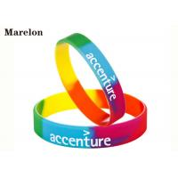 Cheap Multi Color Wristband Custom Silicone Bracelet With Screen Printing Logo for sale