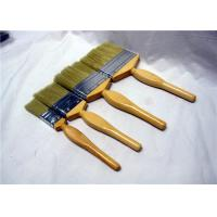 Wide Flat Paint Brush For Painting Walls With Yellow Fusiform Wooden Handle