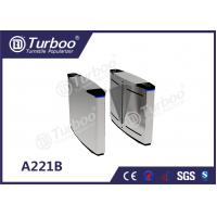 Quality Pedestrian Flap Turnstile Barrier Gate , Access Control Security Access Gates wholesale