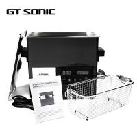 Digital Touch Panel Heated Ultrasonic Parts Cleaner 6L 40kHz With Holder / Drain