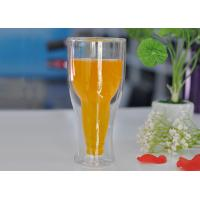 Quality 12 fl.oz 350ml Creative Double Wall Heat Isolated Glass Beer Tea Mug Cup wholesale