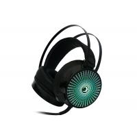 Quality Illuminated 7.1 Surround Sound Headphones With Mic For Pc , Black wholesale