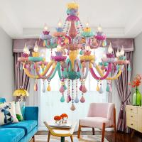 China Multi colored Macaron crystal chandelier (WH-CY-140) on sale