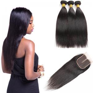 China Unprocessed Indian Human Hair Bundles / No Shedding Wavy Virgin Indian Hair Weave on sale