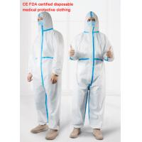 Quality Anti Epidemic Sterilization Disposable Protective Suit , Waterproof Isolation Gown wholesale