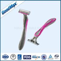 Quality Lubricating Strip Triple Blade Women Razor , Any Color Multi Blade Razor wholesale