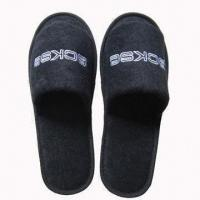 Quality Open Toe Towel Hotel Slippers, Customized Colors and Logos are Accepted wholesale