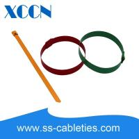 Quality Big Wide Self Locking Cable Ties , Metal Tie Wraps Epoxy Coating Quickly Buckle wholesale