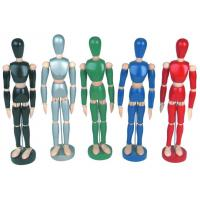 Quality Life - Sized Wooden Drawing Figure Model , Colourful Flexible Poseable Art Mannequin wholesale