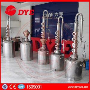 Quality 50L / 100L / 150L / 200L red copper alcohol distilling machine for makong wine wholesale