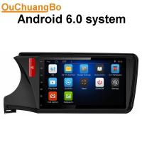 Quality Ouchuangbo car 1080P video stereo for Honda City 2015 with wifi DVR Bluetooth music android 6.0 system wholesale