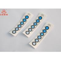Quality DMF Free Moisture Indicator Paper Six Dots , Humidity Card Indicator Blue To Pink wholesale
