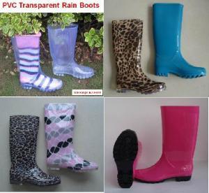 Quality New Fashion Printing PVC Rain Boots, Woman Rain Boot, Boots wholesale