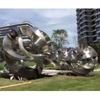 Quality Metal Garden Large Outdoor Abstract Sculptures Stainless Steel Plaza Decoration wholesale