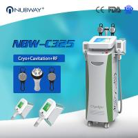 China CE Certificate High-efficiency Cryotherapy 5 Handles Cryolipolysis+RF+Cavitation Slimming Machine on sale