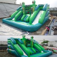 China inflatable water slide with pool , inflatable castle slide , inflatable vagina slide on sale