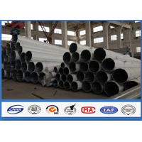 Quality Middle Voltage Galvanized Transmission steel power pole 60FT Slip Joint Connection wholesale