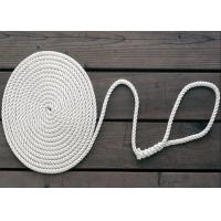 Quality 8mm nylon diamond solid double braid twist 3-strand anchor dock rope code line wholesale