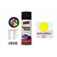 Quality Higher Adhesive Removable Rubber Spray Paint , Matt Yellow Color Auto Spray Paint wholesale