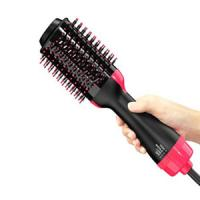 Cheap One Step Hair Dryer, Salon Hot Air Paddle Styling Brush Negative Ion Generator Hair Straightener Curler for All Hair typ for sale