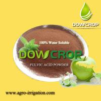 China HOT SALE HIGH QUALITY DOWCROP FULVIC ACID POWER  BROWN POWDER 100% COMPLETELY WATER SOLUBLE ORGANIC FERTILIZER on sale