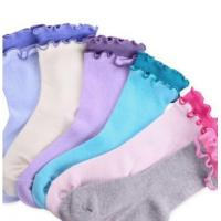 Quality Girls Cotton Double Ruffle Crew Socks 6 Pairs Pack wholesale